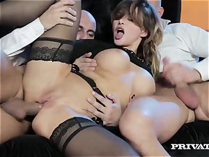 perky hooter Anna Polina Gets Some rough double penetration