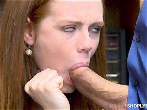 Ella Hughes pummeled nutsack deep by insatiable mall cop