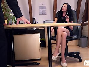 backsides Buero - German secretary boned by boss on a desk