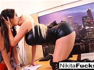 Nikita's all girl office boink