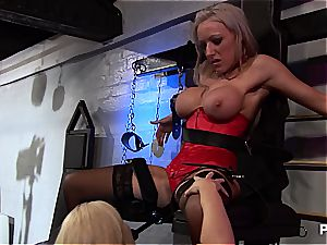 Fetish threesome with Alicia Rhodes