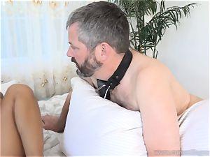 Holly Hendrix Cuckolds husband and Makes Him munch cum