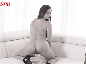 LETSDOEIT bodacious stunner banged To Her confine By a big black cock