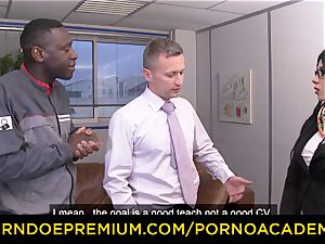 porno ACADEMIE - Romanian red-hot nymph interracial double penetration lovemaking