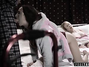unspoiled TABOO 18yo Ashley Sins Against mummy to satiate daddy