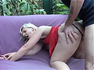 LaCochonne - towheaded mega-bitch Candys likes a excellent anal invasion ravage