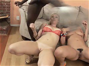 Charley haunt and Adrianna Nicole engulfs this huge rod
