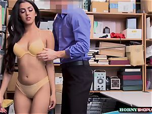 super hot Latina Sophia Leone gets her pussy screwed by officers hefty sausage so firm