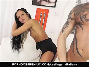 audition ALLA ITALIANA - mischievous fuck-a-thon with local inexperienced