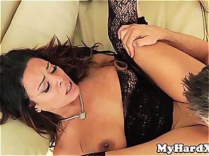 super-naughty Latina Luna star pussyfucked