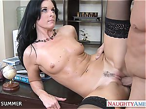 superb dark-haired India Summer nailing