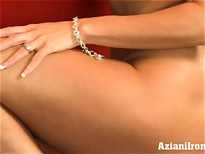 ripped up Brandi love undresses and strokes