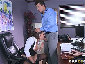 Eva Angelina gets her bosses massive wood throughout her desk