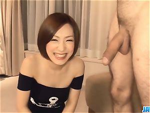 Subtitles - japanese stunner Nene Iino deep-throat salami