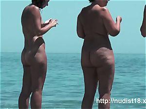 steaming doll at the beach very molten voyeur hunter
