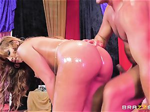 Oiley Mercedes Carrera screwed huge time by giant man meat