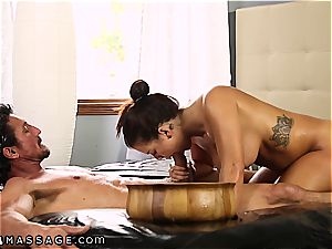 enormous breasted Keisha Grey knows how to treat 2 jizz-shotguns at a time