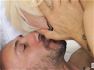 CastingAllaItaliana - Omar Galanti penetrates mature ash-blonde