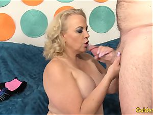 Mature doll Summer takes ginormous spear inside her