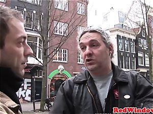 Dutch hooker doggystyled until cumsprayed