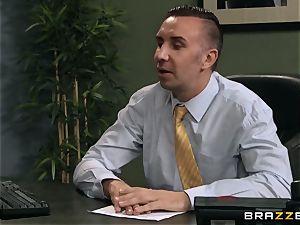 Jaclyn Taylor bangs her prospective boss