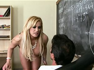 spunk-pumps deepthroating Shyla Stylez crunches a large giant stiff knob with delight