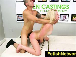 FetishNetwork Aubrey Gold casting bed
