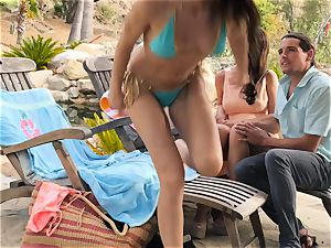 The Getaway Pt three displaying fantastic lezzies Dillion Harper and Charlotte Stokely