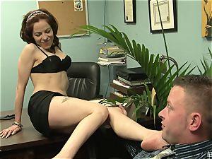 Kora Cummings is a naughty assistant