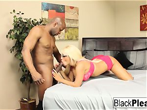huge-titted towheaded Jacky fun keeps her glasses on during bang-out