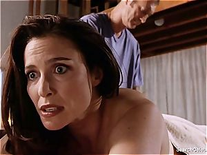 beautiful Mimi Rogers gets her whole figure rubbed