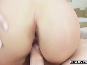 teasing and pounding my stepsister