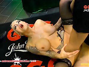 Mila Milan's hard-core group sex - extraordinary bukkake