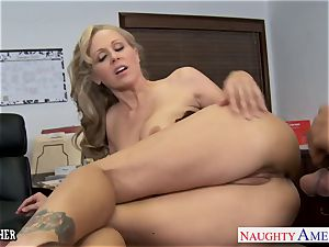 blonde educator Julia Ann banging a big black cock