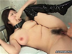 japanese suffers rough fingering and a nip torture