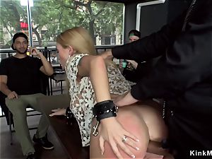 phat tits blondie buttfuck fucked in bar