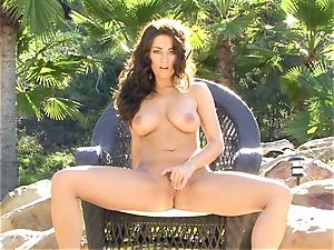 Taylor Vixen is passionate scorching naked on her stool playing with her simmering slits