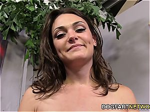 Olivia naughtier Can treat 2 humungous black cocks