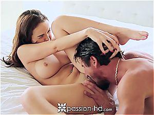Dillion Harper sucking her boyfriend's stiffy