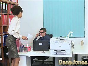Dane Jones sumptuous teen ebony office damsel