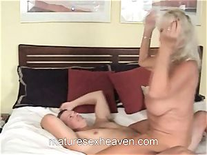 grandma Getting Laid While Her hubby sees