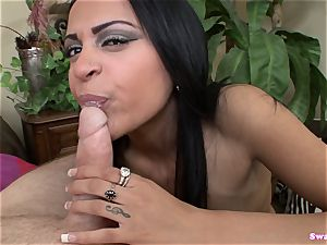 Kimberly Kendall munches Her Lollypop bone