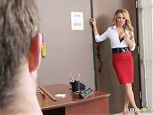 sloppy professor Corrina Blake teaches an unforgettable lesson