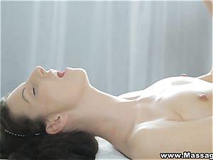 massage X - fleshy mayo on her pretty lips