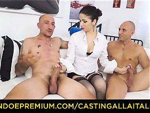 casting ALLA ITALIANA - warm milf has double rectal fun