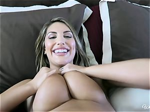 August Ames and Kenna James getting mouth-watering on webcam