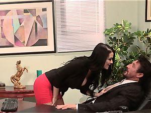 secretary Katrina Jade smashes her super hot boss at work