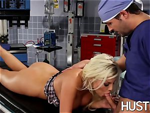 fantastic Britney Amber humped during doctors exam