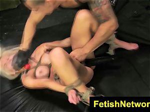 FetishNetwork Bibi Miami buxomy roped fuck-a-thon