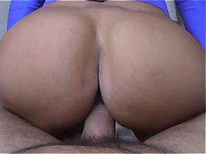 humungous boobed Arab tramp romped in point of view fashion